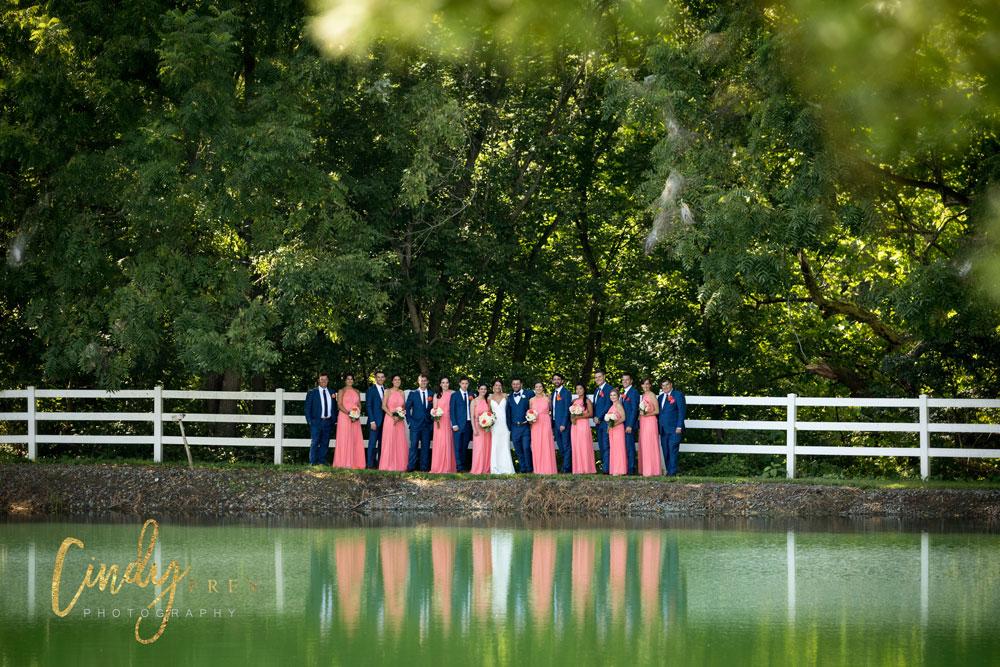 pond-wedding-party